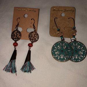 ✨Boho dangle earrings ✨2 pair